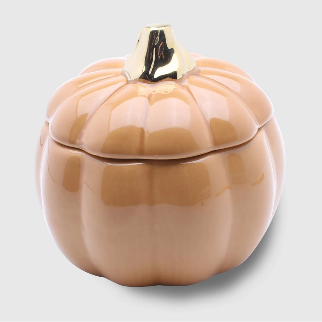Spiced Pumpkin Ceramic Pumpkin Jar Candle