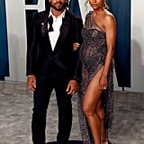 Ciara and Russell Wilson at the Vanity Fair Oscars Afterparty 2020