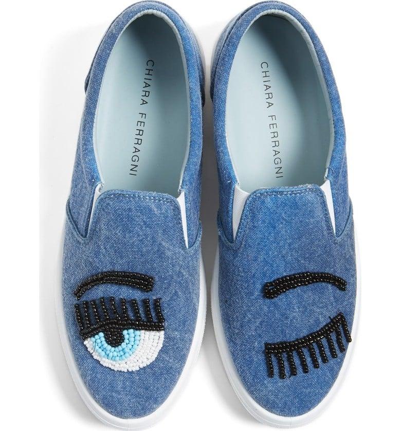 Chiara Ferragni Flirting Beaded Slip-On Sneaker