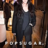 Cher attended the Gareth Pugh show on Wednesday.