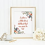 Sister Quote Art Print