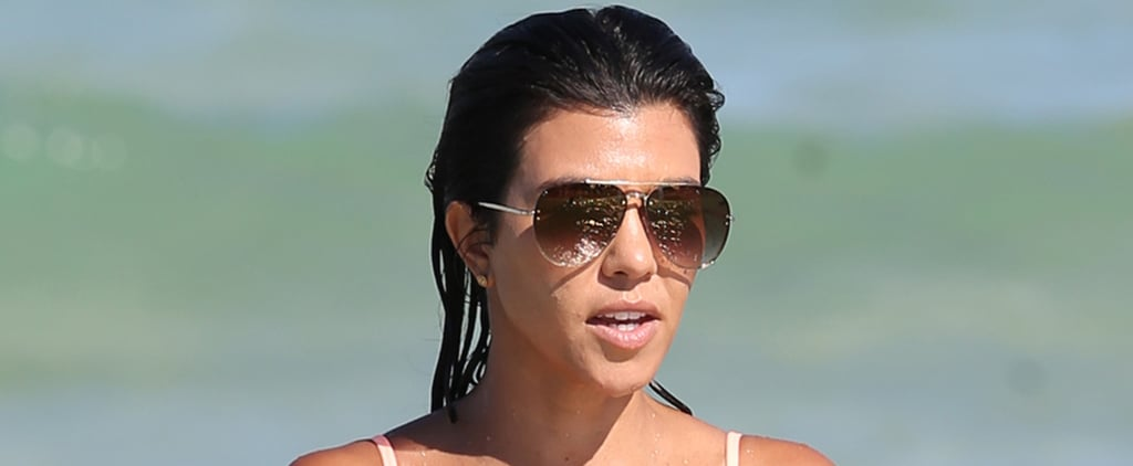 Kourtney Kardashian Transforms Into a Real-Life Bond Girl During a Miami Beach Trip