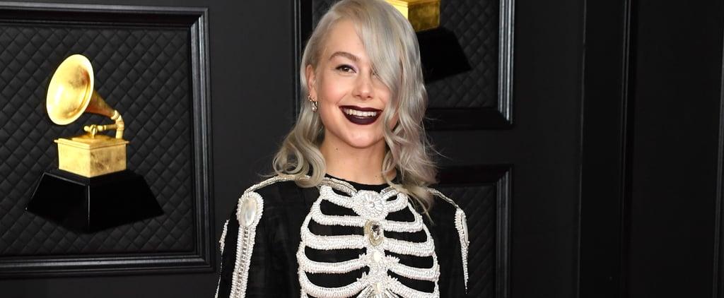 Phoebe Bridgers Wears Thom Browne Skeleton Dress to Grammys