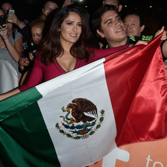 Salma Hayek With Mexican Flag on Red Carpet