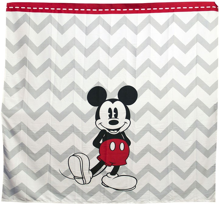 Chevron Mickey Mouse Shower Curtain