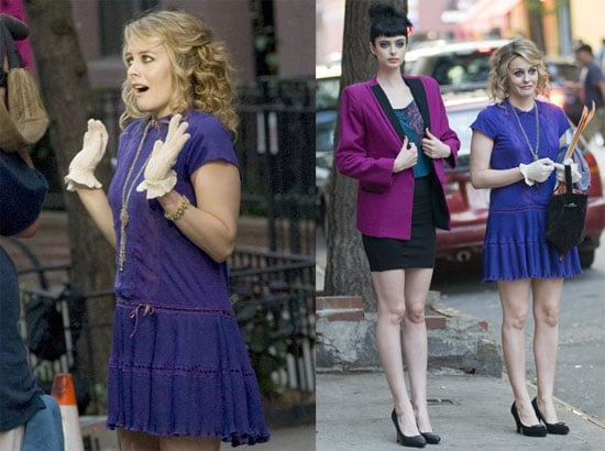 Pictures of Alicia Silverstone and Krysten Ritter on the Set of Vamps in NYC