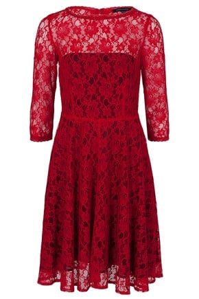 We love the rich red hue on this French Connection Fast Iris Lace L/S Dress ($198) — bonus points for an ultraflattering silhouette.