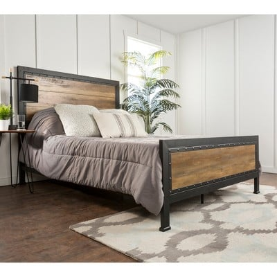 Saracina Home Queen Size Industrial Wood And Metal Bed 30 Bedroom Furniture Picks From Target Whether You Need 1 Piece Or A Whole Set Popsugar Home Photo 31