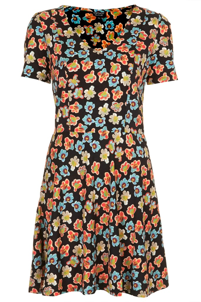 Topshop Floral-Print Dress
