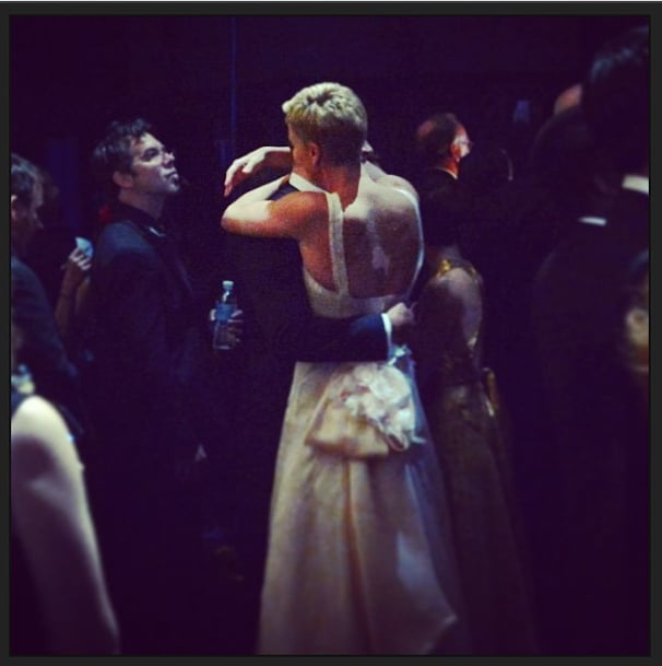 A closer look at Charlize's costume change from the back. Source: Instagram user theacademy