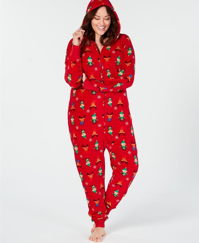 family pajamas elf hooded pajama jumpsuit - Elf Christmas Pajamas