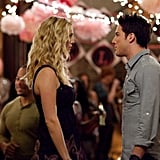 Candice Accola as Caroline and Michael Trevino as Tyler on The Vampire Diaries.  Photo courtesy of The CW