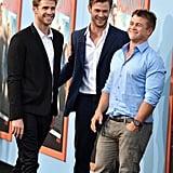 Liam, Chris, and Luke Hemsworth