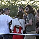 George Clooney, Stacy Keibler, and Cindy Crawford leaving Mexico.