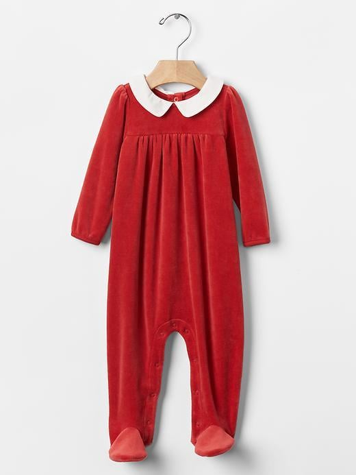Gap Velour Footed Onesie