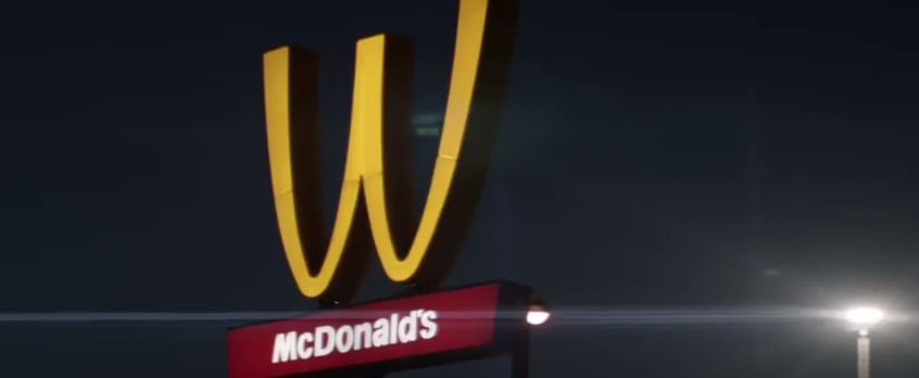 McDonald's Flips Signs M to W International Women's Day 2018