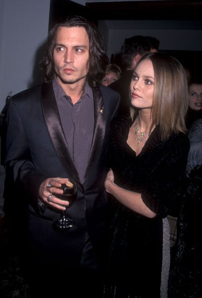 power couple johnny depp vanessa paradis popsugar fashion. Black Bedroom Furniture Sets. Home Design Ideas