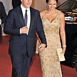 Matt and Luciana Damon held hands at the September 2011 Venice Film Festival.