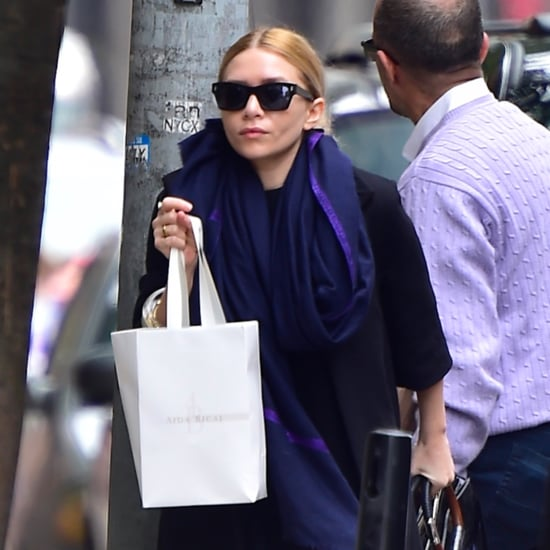 Ashley Olsen Wearing Mary Jean Flats From The Row