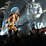 Katy Perry Wears Skintight Costume —And Sings About Russell? — At Grammys