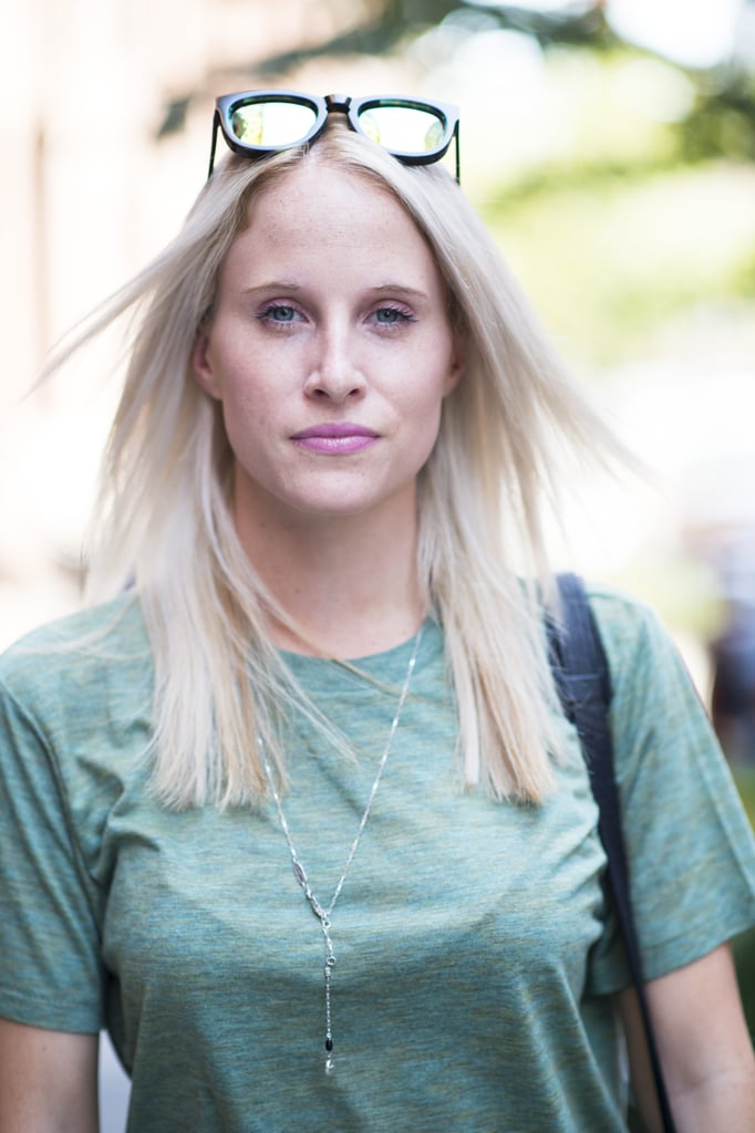 A monochromatic makeup palette in pink was a lovely choice for this blond beauty. Photo by Le 21ème   Adam Katz Sinding
