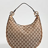 Gucci Brown Canvas GG Twins Hobo Bag