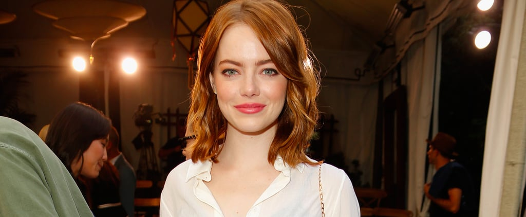 Emma Stone Got Her Hands on a Straight-Off-the-Runway Look That's Sexy as Can Be
