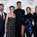 Sam Claflin, and Kristen Stewart, Ella Balinska, Naomi Scott, and Elizabeth Banks at the Premiere