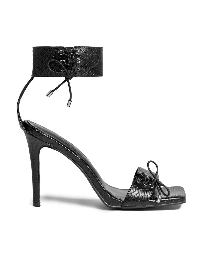 KAM Black Widow Lace Up Heels