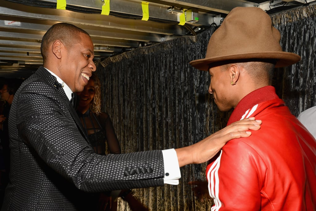 Jay laughed, and Pharrell looked mildly embarrassed.