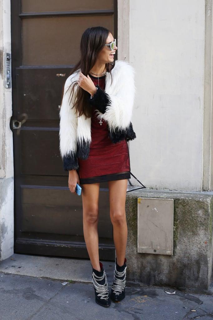 Two-toned fur that would make any mini look chic.
