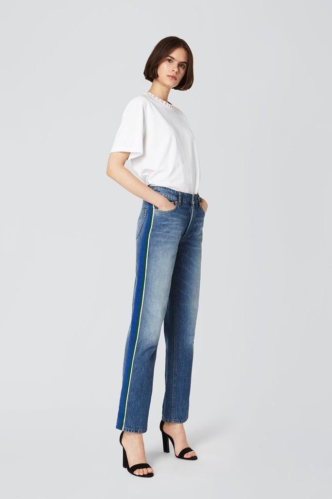 Victoria by Victoria Beckham Grosgrain Stripe Arizona Jeans