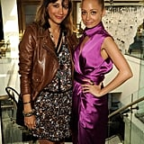 Nicole Richie and Rashida Jones attended a pre-Grammys event in LA in February.