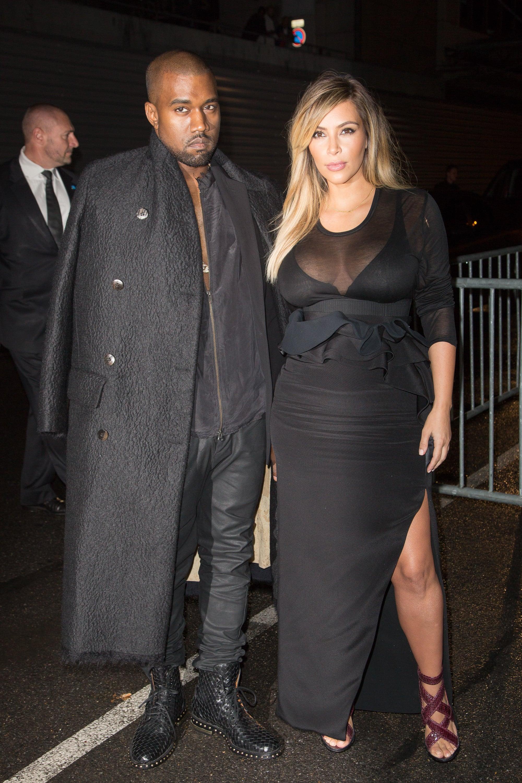 Kim Kardashian at the Spring 2014 Givenchy Runway Show