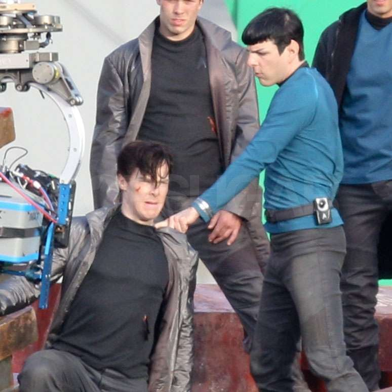Zachary Quinto battled on set in LA.