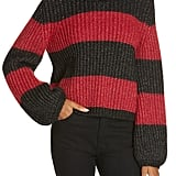 La Ligne Colorblock Balloon Sleeve Crop Sweater