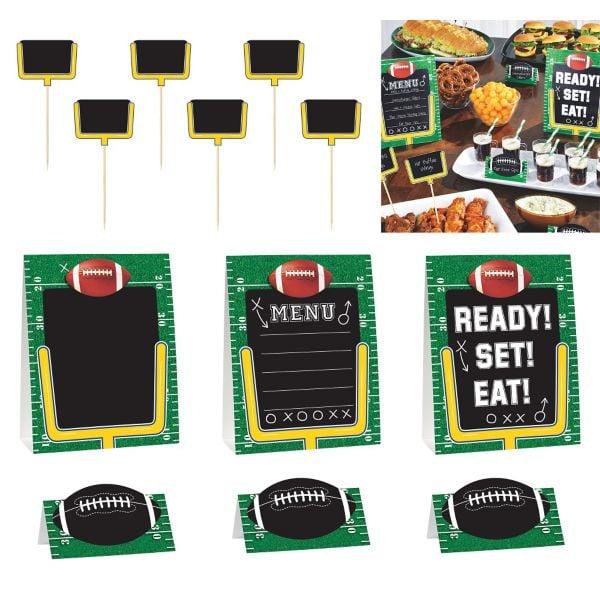 Football Field Buffet Decorating Kit 40 Piece Party City Super Impressive Party City Super Bowl Decorations