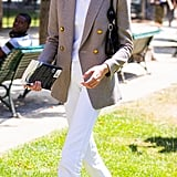 Style Your T-Shirt With: A Blazer, Jeans, and Sneakers