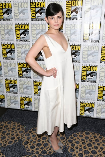 Goodwin-wore-white-dress-plunging-neckline-press-event