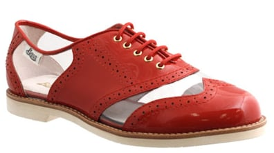 These Bass For Rachel Antonoff red and clear oxfords ($129) would look great day or night. For daytime, pair them with a floral dress, then with leather at night.