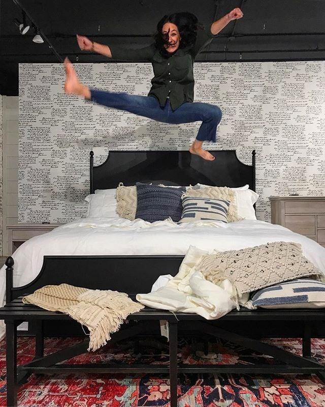 joanna gaines at high point market 2017 popsugar home. Black Bedroom Furniture Sets. Home Design Ideas