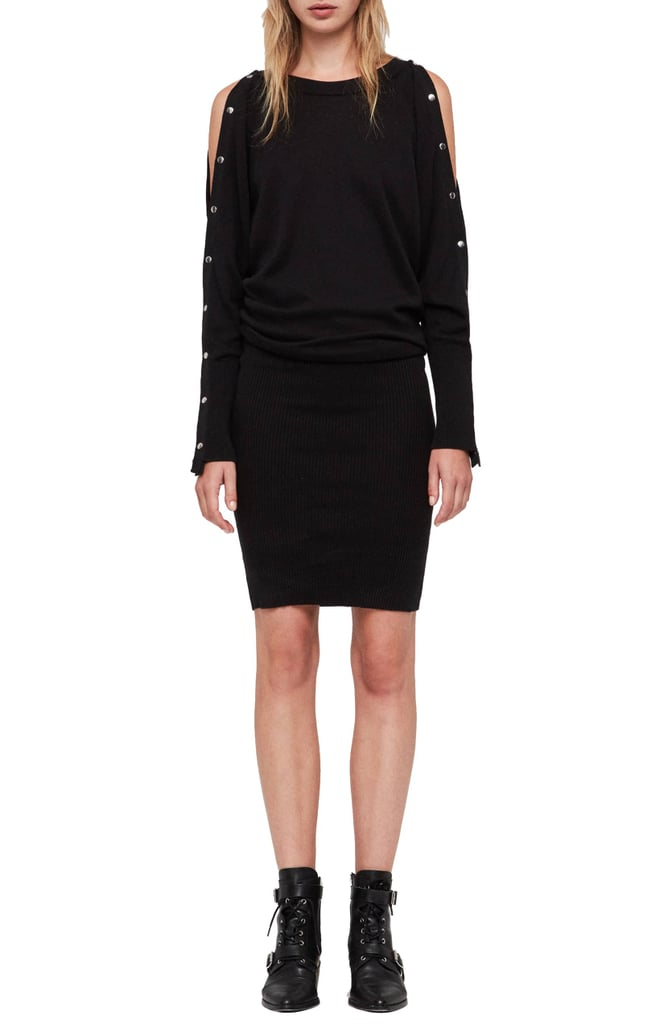 74b431139d1 ALLSAINTS Suzie Snap Sleeve Sweater Dress