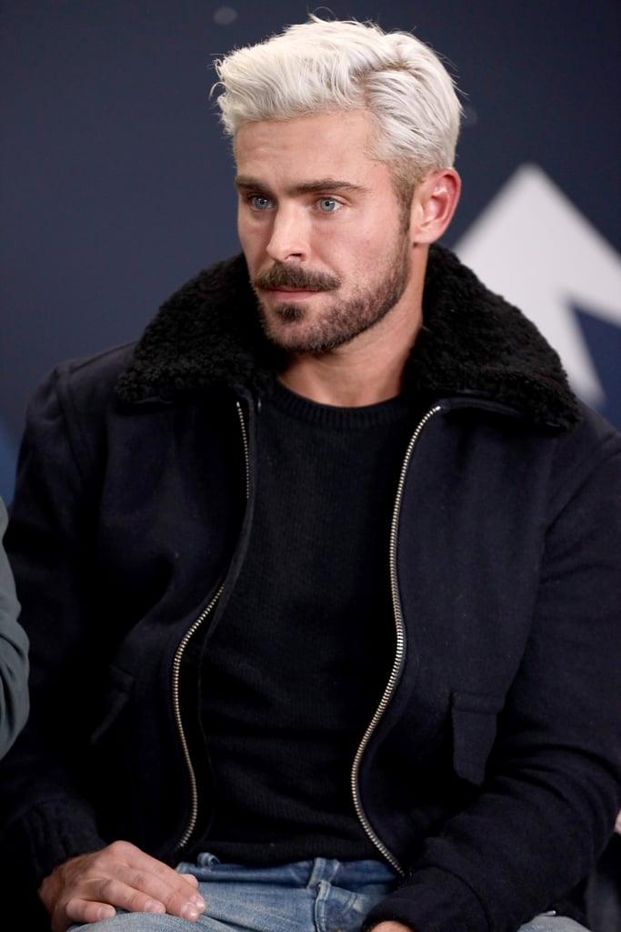 Zac Efron Platinum Blond Hair 2019