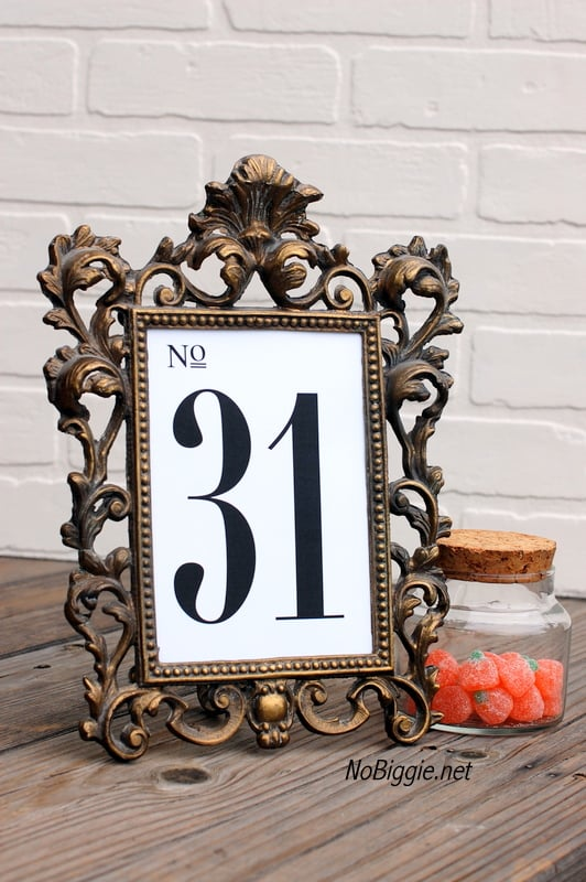 Simple Table Numbers