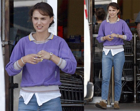 Natalie Portman on Set