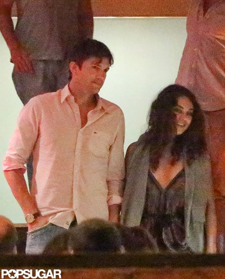 Ashton Kutcher and Mila Kunis had a romantic date night at Mr. Lam restaurant in Rio de Janeiro on Friday evening. They were accompanied by friends, and Ashton had his eye on Mila as they said goodbye after the night out. Ashton and Mila apparently got away to Brazil to celebrate New Year's together, following a Christmas with the Kutchers in Iowa. New Year's and Christmas aren't the only holidays Ashton and Mila spent together. Over Thanksgiving, Ashton visited Mila in Rome, where she was on location, filming The Third Person. Although he is now relaxing and enjoying some downtime, Ashton is currently involved in legal matters on two fronts. At the end of last month, he officially filed for divorce from Demi Moore after a year of separation. Ashton's production company is also in the midst of a suit. A California judge recently approved Katalyst's intent to sue the California DMV for going back on their commitment to cooperate on a reality TV show.
