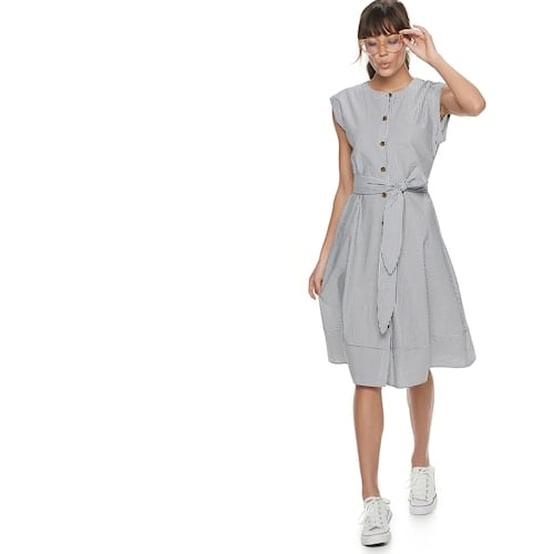 POPSUGAR Belted Button-Down Dress