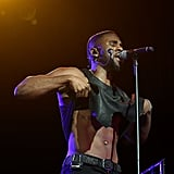 Jason Derulo flashed his abs while performing in Atlanta on Thursday.