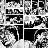 Negan proceeds to beat the living hell out of Glenn. It's as heartbreaking as it is gruesome, with Glenn surviving the first hit and calling out to Maggie before he eventually goes down.