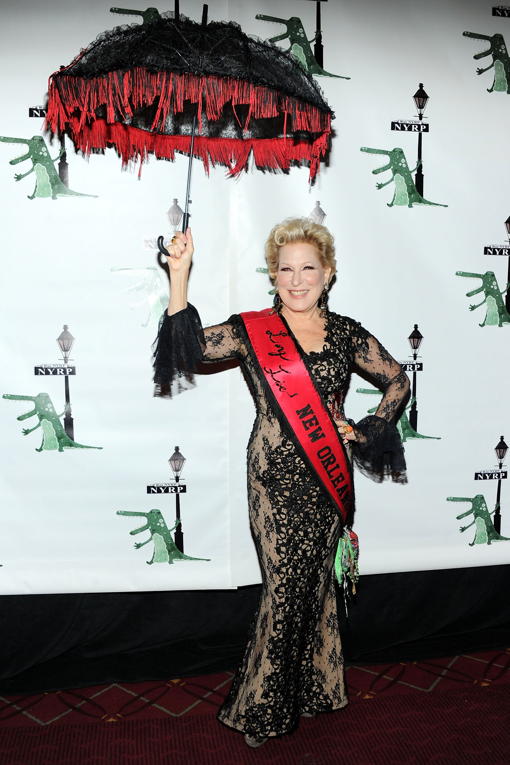 Bette Midler got into the Halloween spirit at the annual Hulaween in the Big Easy event in LA.